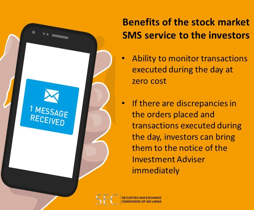 SEC Notice English:Benefits of the stock market SMS service to the investors